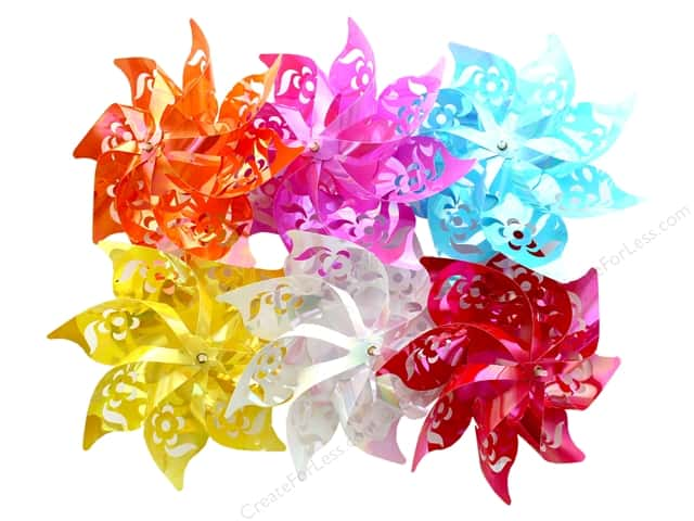 "Darice Pinwheel 7.75"" 6 Assorted Pastel (6 pieces)"