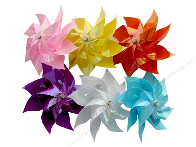 "Darice Pinwheel 4.5"" 6 Assorted Pastel (12 pieces)"
