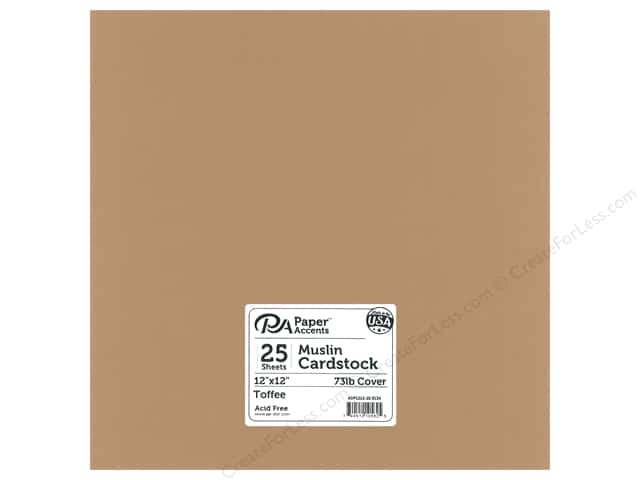 Paper Accents Cardstock 12 in. x 12 in. Muslin 73 lb Toffee (25 sheets)