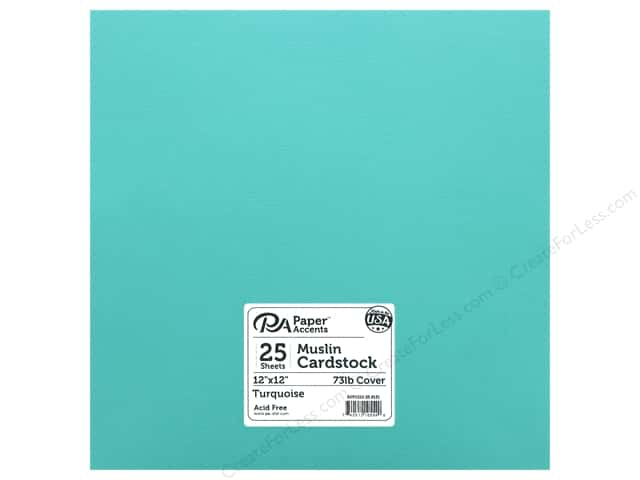 Paper Accents Cardstock 12 x 12 in. Muslin Turquoise (25 sheets)
