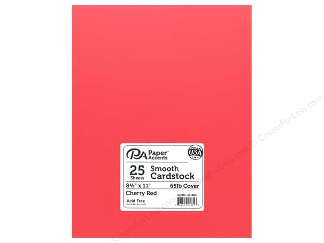 Paper Accents Cardstock 8.5 in. x 11 in. Smooth 65 lb Cherry Red (25 sheets)