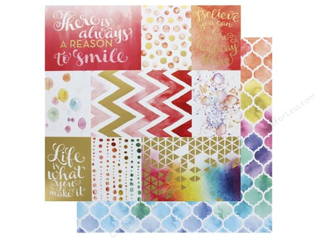 Paper House Paper 12 in. x 12 in.  A Reason To Smile (15 pieces)