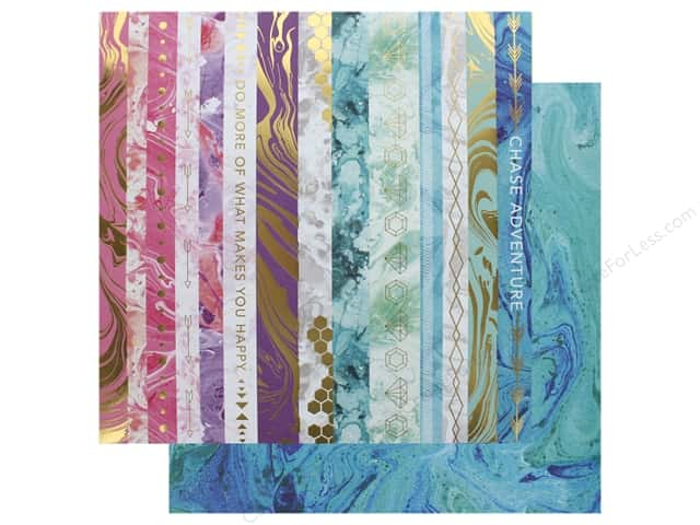 Paper House Paper 12 in. x 12 in. Marbleous Border