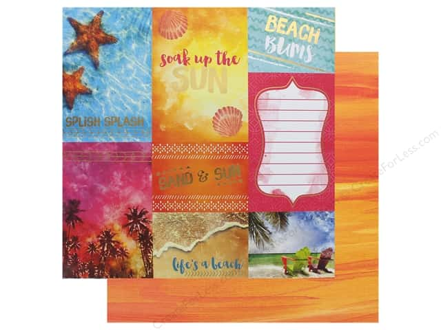 Paper House Paper 12 in. x 12 in. Soak Up The Sun (15 pieces)