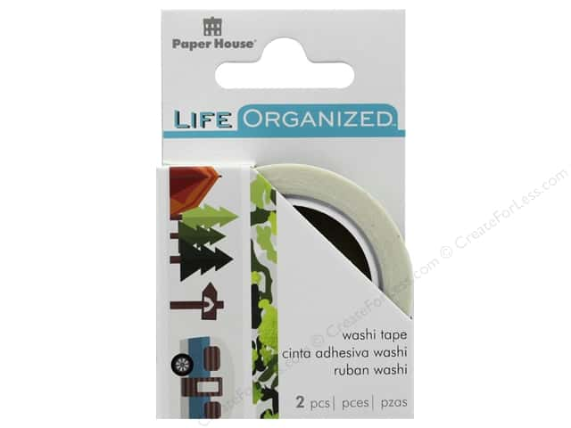 Paper House Collection Life Organized Washi Roll Set Outdoor