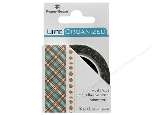 Paper House Collection Life Organized Washi Tape Autumn Woods