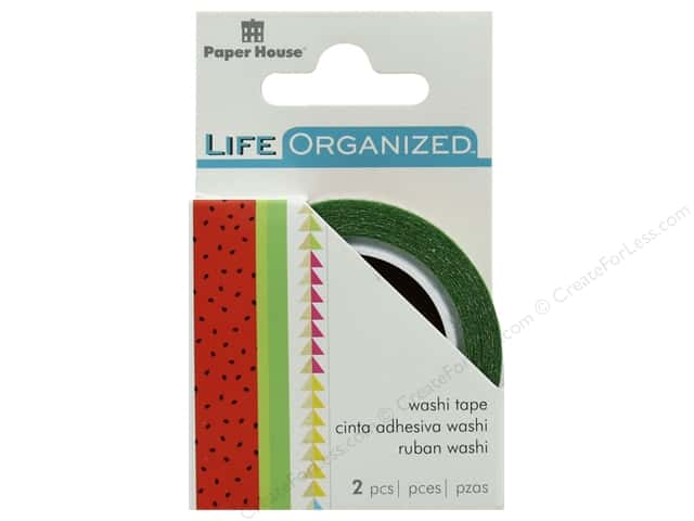 Paper House Collection Life Organized Washi Tape Summer Fun