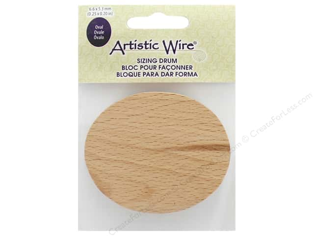 Artistic Wire Sizing Drum Oval 6.6 cm x 5.3 cm