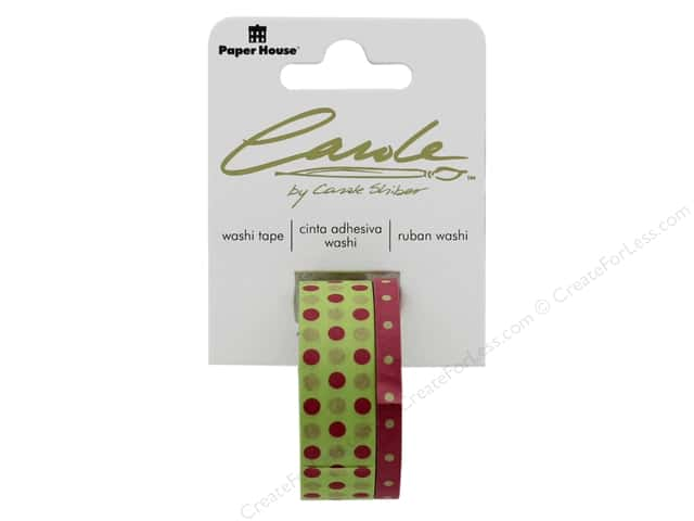 Paper House Washi Tape Polka Dots Pink/Green