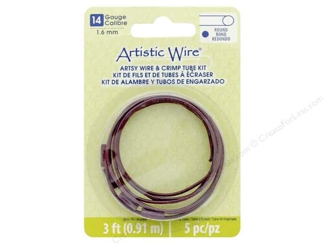 Artistic Wire Artsy Wire With Crimps 14 Gage Burgundy 3 ft