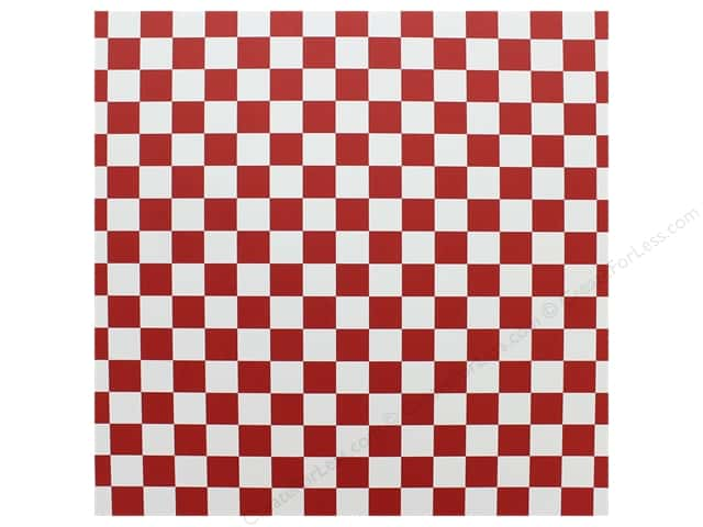 "Canvas Corp Paper 12""x 12"" Red & White Big Check (15 pieces)"