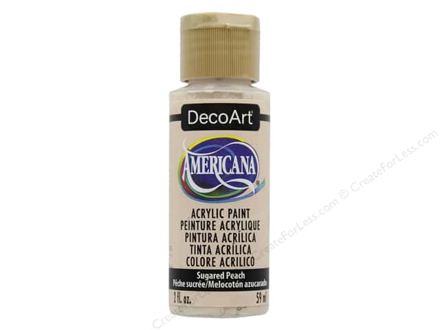 DecoArt Americana Acrylic Paint 2 oz. Sugared Peach
