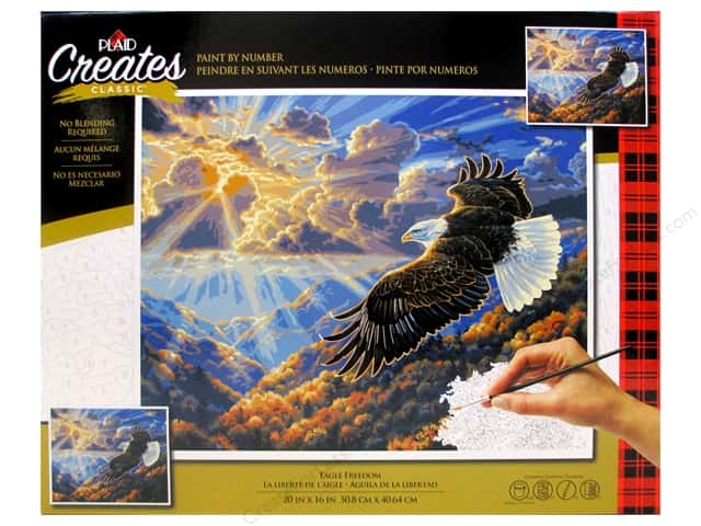Plaid Paint By Number 20 in. x 16 in. Eagle Freedom