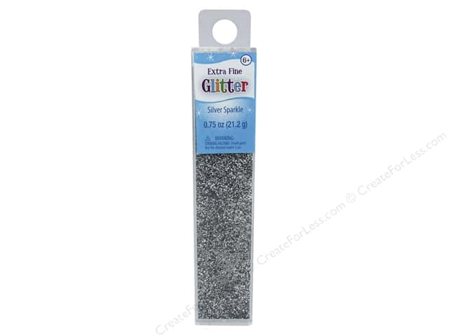 Sulyn Glitter Extra Fine .75 oz Silver Sparkle