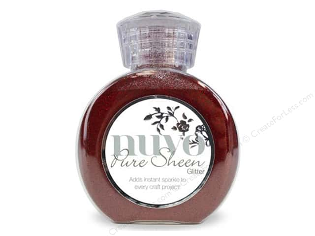 Nuvo Glitter Pure Sheen 3.38 oz Ruby Red