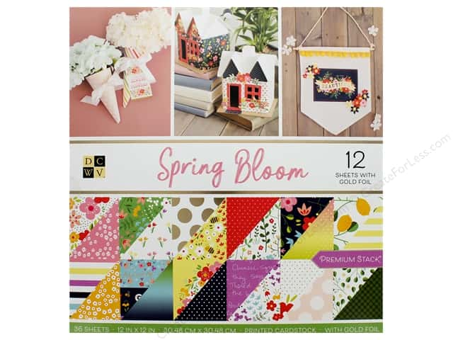 DieCuts Stacks Paper 12 in. x 12 in. Spring Bloom Foil Gold