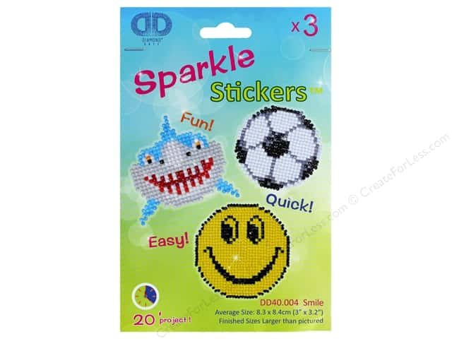 Diamond Dotz Sparkle Sticker Kit - Smile
