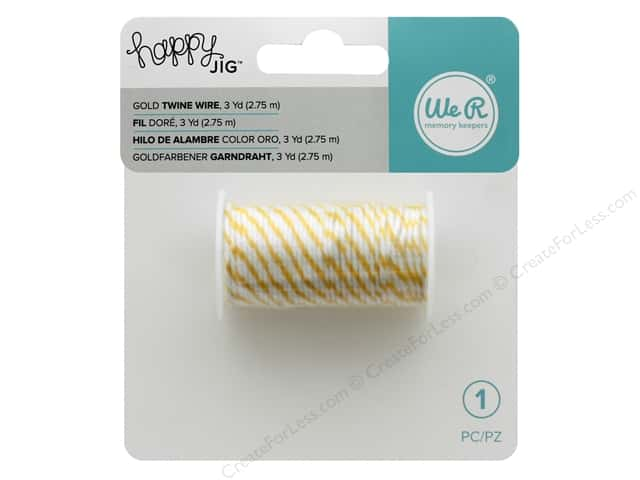 We R Memory Keepers Happy Jig Bakers Twine Wire 3 yd. Gold