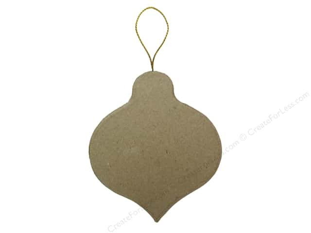 PA Paper Mache Flat Pointed Round Ornament 3 1/2 in.