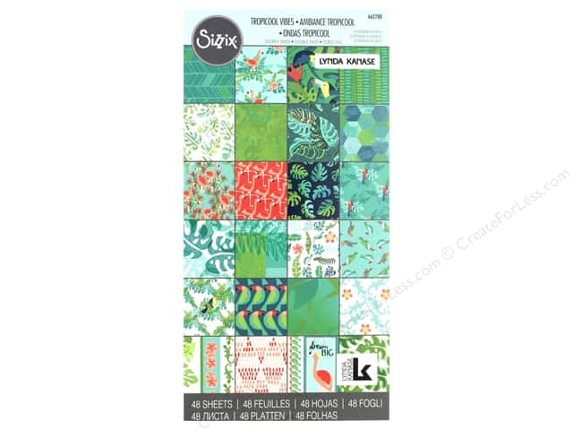 Sizzix Accessories Lynda Kanase Paper Pad 6 in. x 12 in. Tropicool Vibes