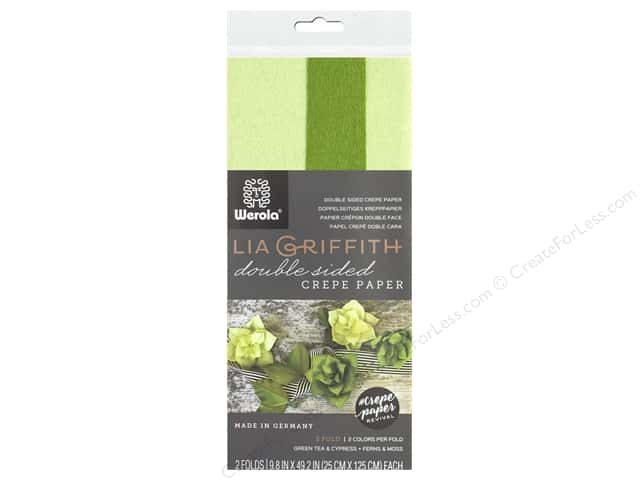 Werola Lia Griffith Crepe Paper Double Sided 2 pc Cypress
