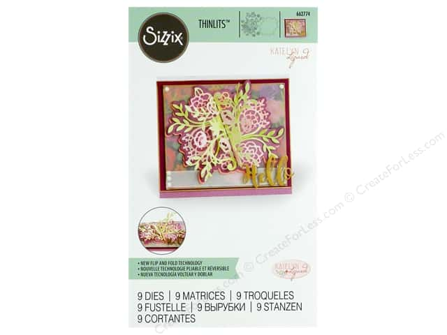 Sizzix Dies Katelyn Lizardi Thinlits Flip/Fold Floral Bunch