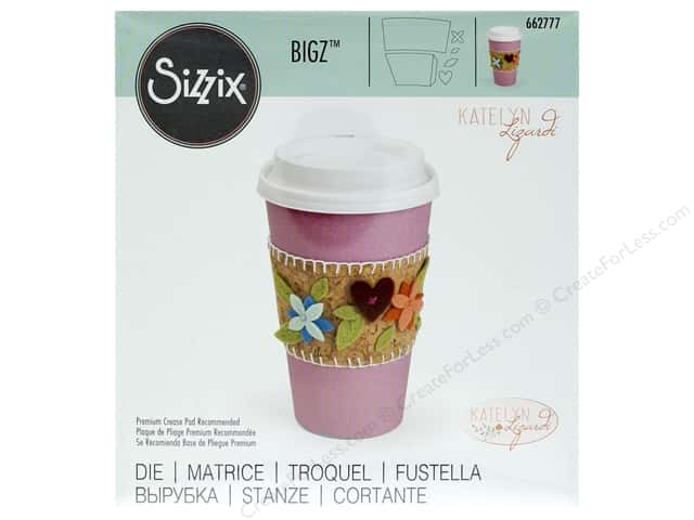 Sizzix Dies Katelyn Lizardi Bigz Sleeve Coffee Cup
