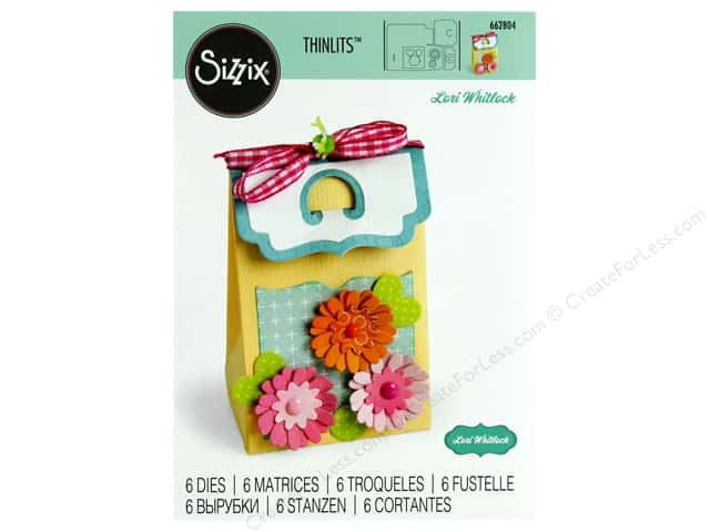 Sizzix Dies Lori Whitlock Thinlits Box Favor Bracket Flap