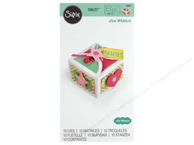 Sizzix Dies Lori Whitlock Thinlits Box Favor With Thanks