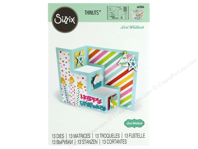 Sizzix Dies Lori Whitlock Thinlits Card Birthday Shutter