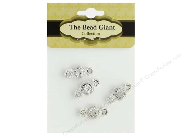 The Bead Giant Jewelry Bead Spacer 2 Row 4 pc
