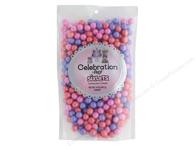 SweetWorks Celebration Sixlets 14 oz Stand Up Bag Shimmer Gemstone