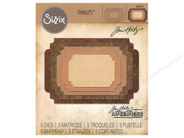 Sizzix Dies Tim Holtz Thinlits Stacked Label
