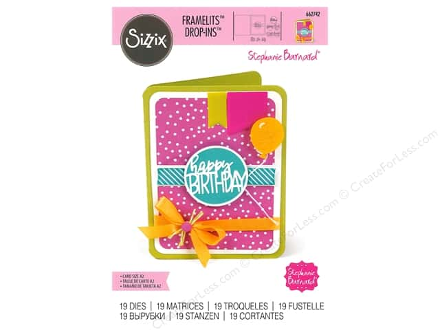 Sizzix Dies Stephanie Barnard Framelits With Circle Drop In Card