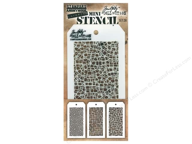 Stampers Anonymous Tim Holtz Layering Mini Stencil Set #28