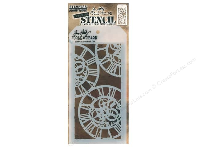 Stampers Anonymous Tim Holtz Layering Stencil - Clockwork