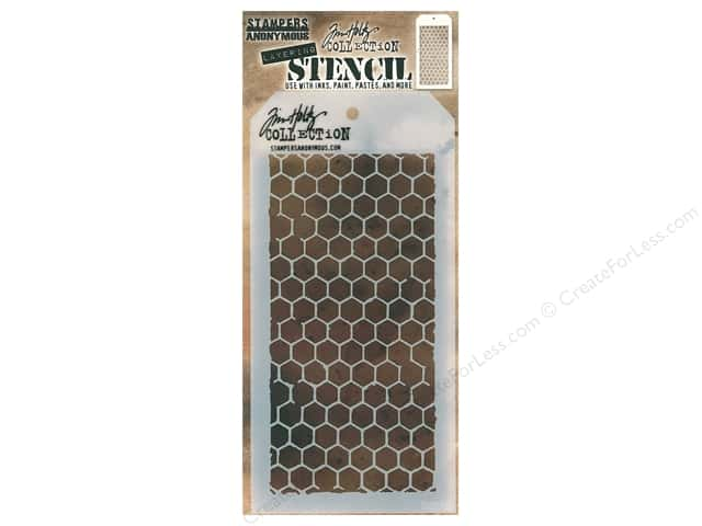 Stampers Anonymous Tim Holtz Layering Stencil - Honeycomb