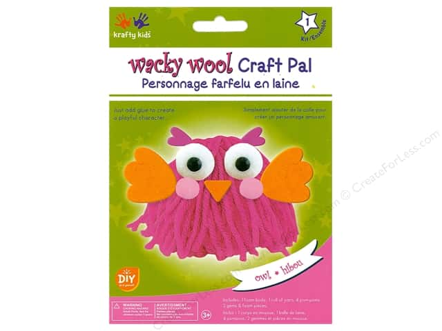 Multicraft Krafty Kids DIY Kit Wacky Wool Owl