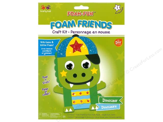 Multicraft Krafty Kids DIY Kit Foam Friend Dinosaur