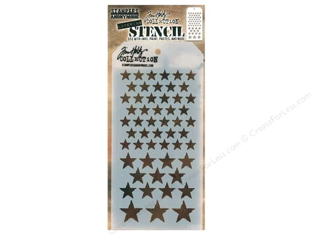 Stampers Anonymous Layering Stencil Tim Holtz Stars