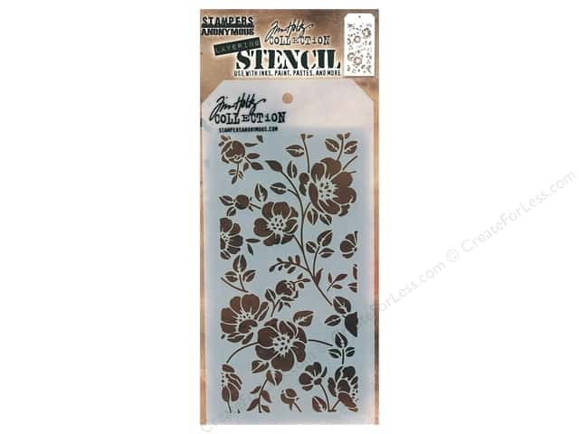 Stampers Anonymous Layering Stencil Tim Holtz Floral
