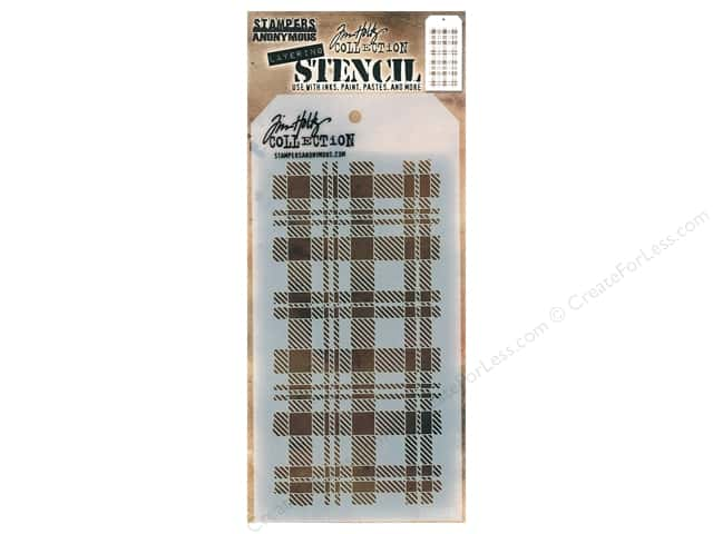 Stampers Anonymous Layering Stencil Tim Holtz Plaid