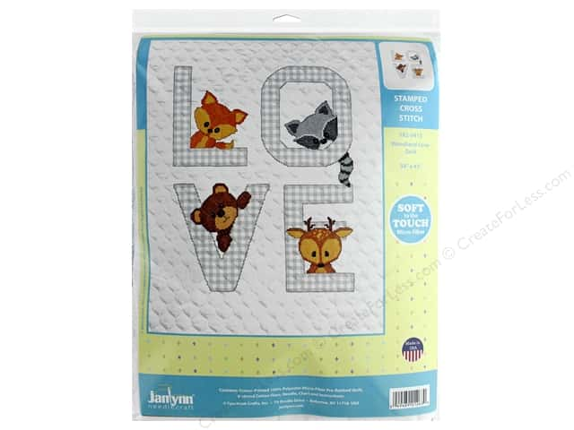 Janlynn Cross Stitch Kit Baby 34 in. x 43 in. Woodland Love