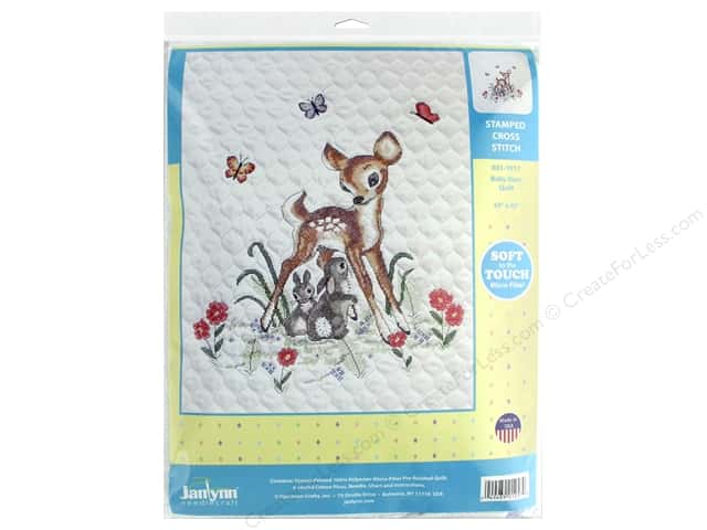 Janlynn Cross Stitch Kit Baby 34 in. x 43 in. Baby Deer
