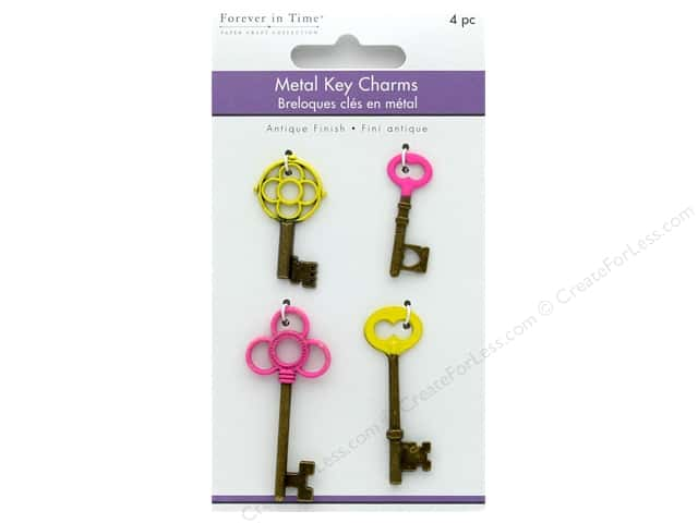 Multicraft Embellishments Metal Charms Antique Keys Baby