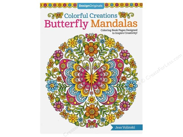 Design Originals Colorful Creations Butterfly Mandalas Book