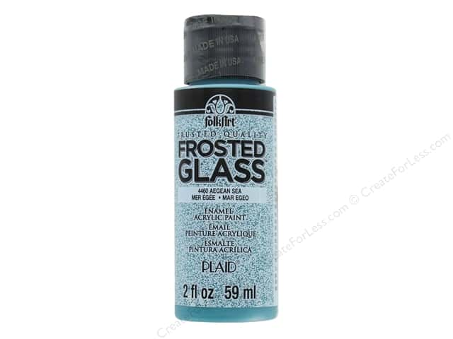Plaid FolkArt Frosted Glass Enamel Paint 2 oz. Aegean Sea