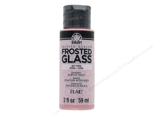 Plaid FolkArt Frosted Glass Enamel Paint 2 oz. Coral