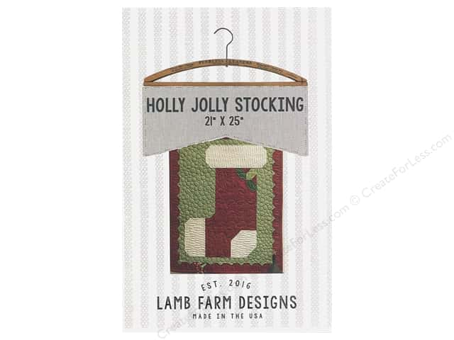 Lamb Farm Designs Holly Jolly Stocking Pattern