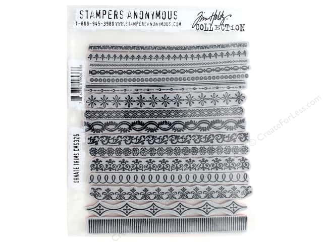 Stampers Anonymous Tim Holtz Cling Mount Stamp Set - Ornate Trims